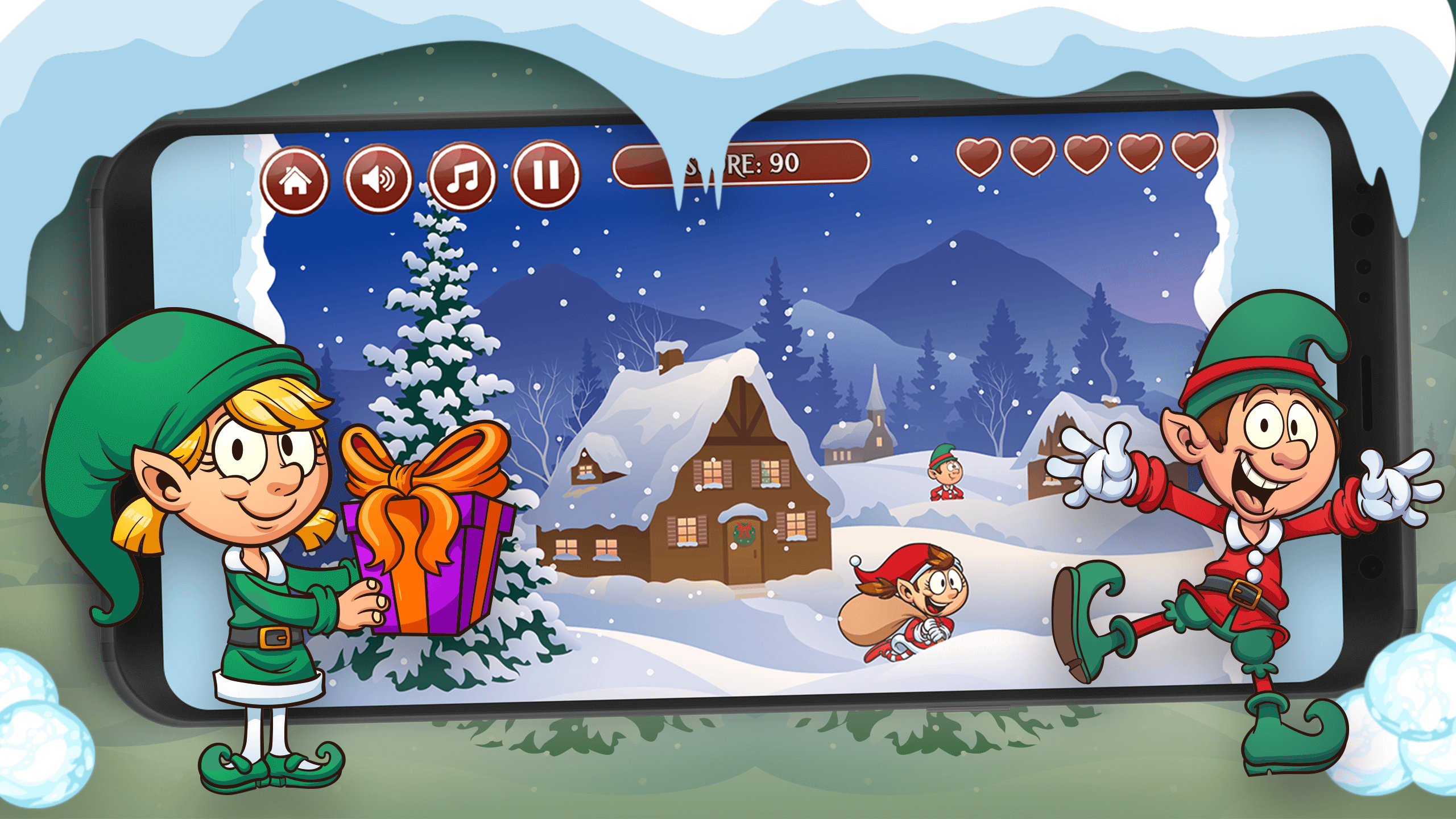 Santa's Snow Fight screenshot 2
