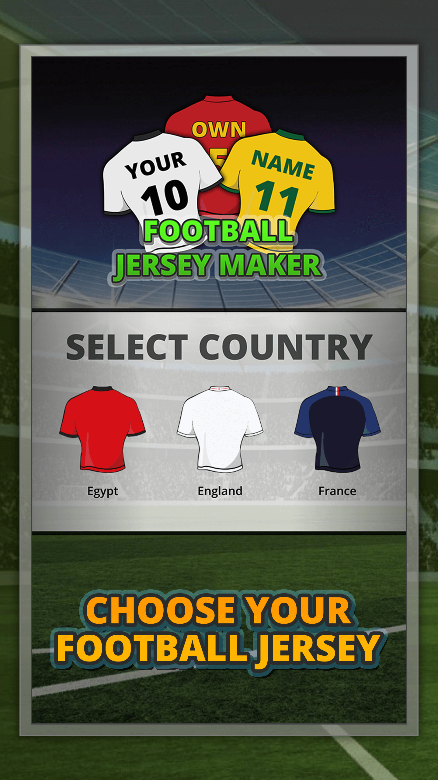 World Cup 2018 Jersey Maker screenshot 1